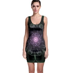 Mandala Fractal Light Light Fractal Bodycon Dress