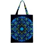 Mandala Blue Abstract Circle Zipper Classic Tote Bag
