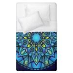 Mandala Blue Abstract Circle Duvet Cover (Single Size)