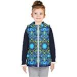 Mandala Blue Abstract Circle Kid s Puffer Vest
