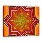 Mandala Zen Meditation Spiritual Canvas 20  x 16