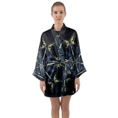 Mandala Butterfly Concentration Long Sleeve Kimono Robe
