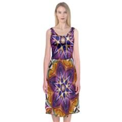Kaleidoscope Pattern Kaleydograf Midi Sleeveless Dress