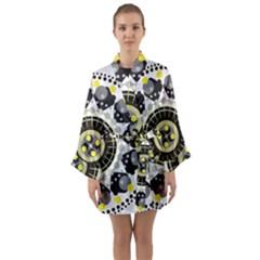 Mandala Geometric Design Pattern Long Sleeve Kimono Robe by Celenk