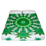 Mandala Geometric Pattern Shapes Fitted Sheet (Queen Size)