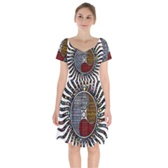 Whole Complete Human Qualities Short Sleeve Bardot Dress