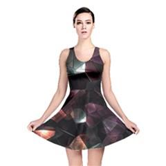 Crystals Background Design Luxury Reversible Skater Dress