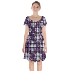 Background Texture Pattern Short Sleeve Bardot Dress by Celenk