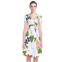 Juicy Currants Short Sleeve Front Wrap Dress by TKKdesignsCo