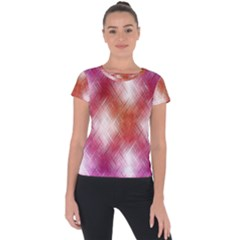 Background Texture Pattern 3d Short Sleeve Sports Top  by Celenk