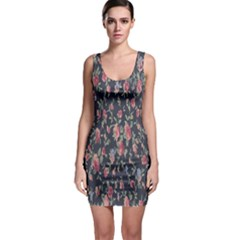 Pattern Flowers Pattern Flowers Bodycon Dress