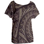 Abstract Pattern Graphics Women s Oversized Tee