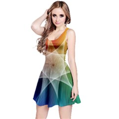 Abstract Star Pattern Structure Reversible Sleeveless Dress