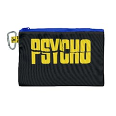 Psycho  Canvas Cosmetic Bag (large) by Valentinaart