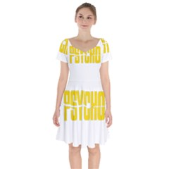 Psycho  Short Sleeve Bardot Dress by Valentinaart