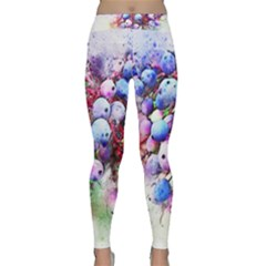 Berries Pink Blue Art Abstract Classic Yoga Leggings