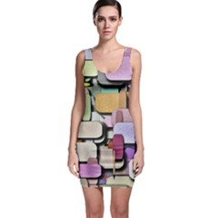 Background Painted Squares Art Bodycon Dress