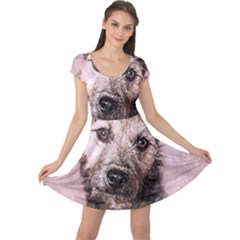 Dog Pet Terrier Art Abstract Cap Sleeve Dress