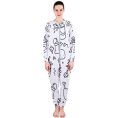 Set Chalk Out Scribble Collection Onepiece Jumpsuit (ladies)  by Celenk