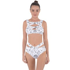 Set Chalk Out Scribble Collection Bandaged Up Bikini Set  by Celenk