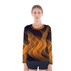 Background Light Glow Abstract Art Women s Long Sleeve Tee by Celenk