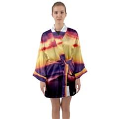 Great Smoky Mountains National Park Long Sleeve Kimono Robe