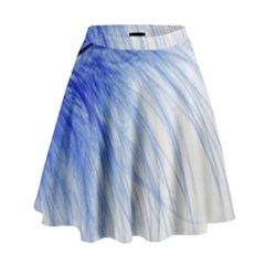 Spring Blue Colored High Waist Skirt