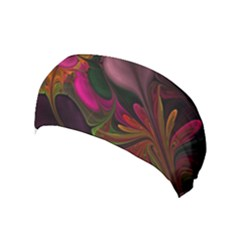 Fractal Abstract Colorful Floral Yoga Headband by Celenk