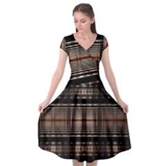 Fractal Fractal Art Design Geometry Cap Sleeve Wrap Front Dress by Celenk