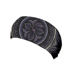 Fractal Abstract Purple Majesty Yoga Headband by Celenk