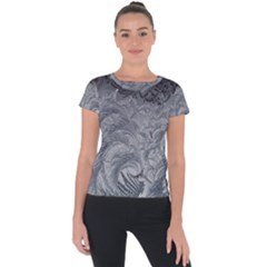 Abstract Art Decoration Design Short Sleeve Sports Top  by Celenk
