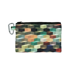 Art Design Color Pattern Creative 3d Canvas Cosmetic Bag (small) by Celenk
