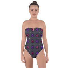 Funds Texture Pattern Color Tie Back One Piece Swimsuit by Celenk