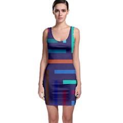 Lines Line Background Abstract Bodycon Dress