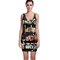 Art Design Color Banner Wallpaper Bodycon Dress