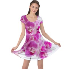 Orchid Phaleonopsis Art Plant Cap Sleeve Dress