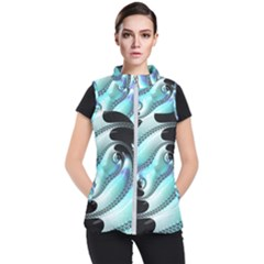 Background Pattern Jewellery Women s Puffer Vest by Celenk