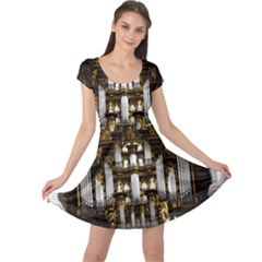 Organ Church Music Organ Whistle Cap Sleeve Dress
