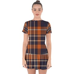 Abstract Background Pattern Textile 6 Drop Hem Mini Chiffon Dress