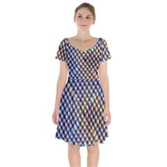 Kaleidoscope Pattern Ornament Short Sleeve Bardot Dress by Celenk