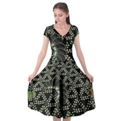 Batik Traditional Heritage Indonesia Cap Sleeve Wrap Front Dress