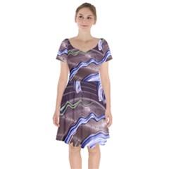 Art Design Decoration Card Color Short Sleeve Bardot Dress by Celenk
