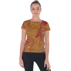 Texture Pattern Abstract Art Short Sleeve Sports Top  by Celenk