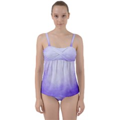Ombre Twist Front Tankini Set by ValentinaDesign
