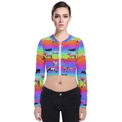 Horses In Rainbow Bomber Jacket by CosmicEsoteric