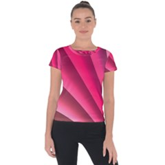 Wave Pattern Structure Texture Colorful Abstract Short Sleeve Sports Top  by Celenk
