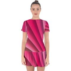 Wave Pattern Structure Texture Colorful Abstract Drop Hem Mini Chiffon Dress by Celenk