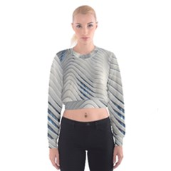 Aqua Building Wave Cropped Sweatshirt by Celenk