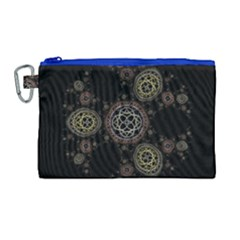 Background Pattern Symmetry Canvas Cosmetic Bag (large) by Celenk