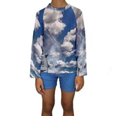Chrysler Building America New York Kids  Long Sleeve Swimwear by Celenk